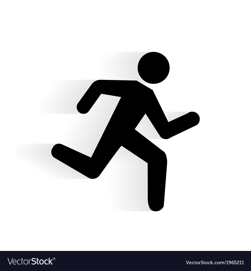 Running human icon vector | Price: 1 Credit (USD $1)