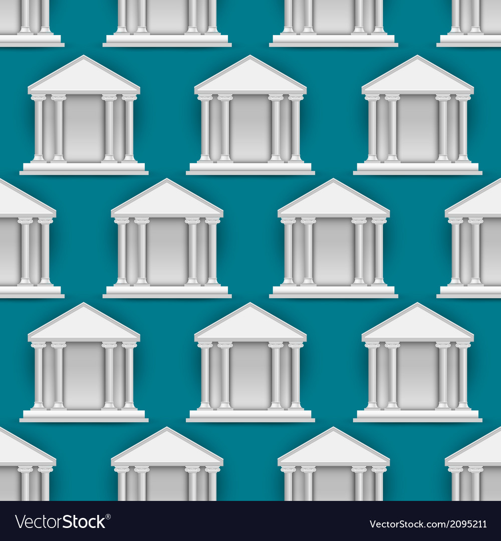 Seamless pattern of buildings banks vector | Price: 1 Credit (USD $1)