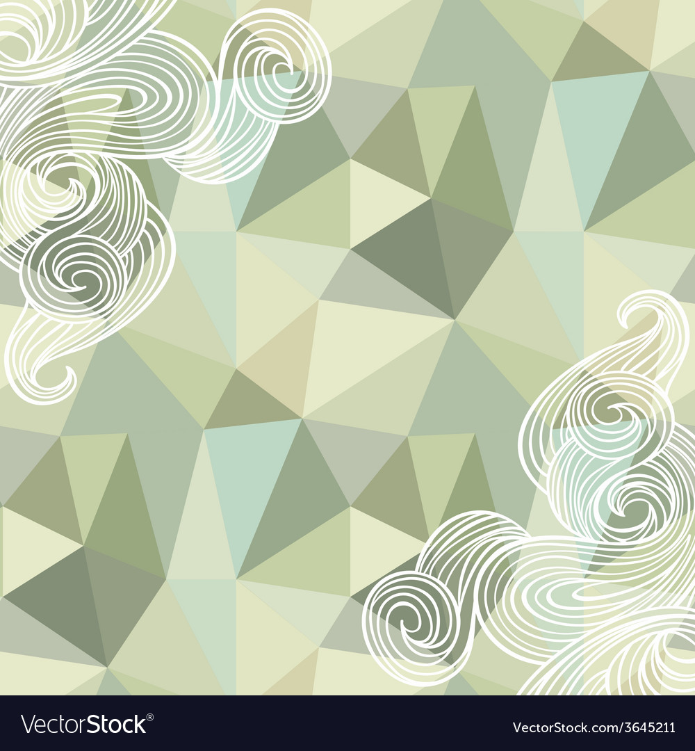 Seamless polygon triangle pattern vector | Price: 1 Credit (USD $1)