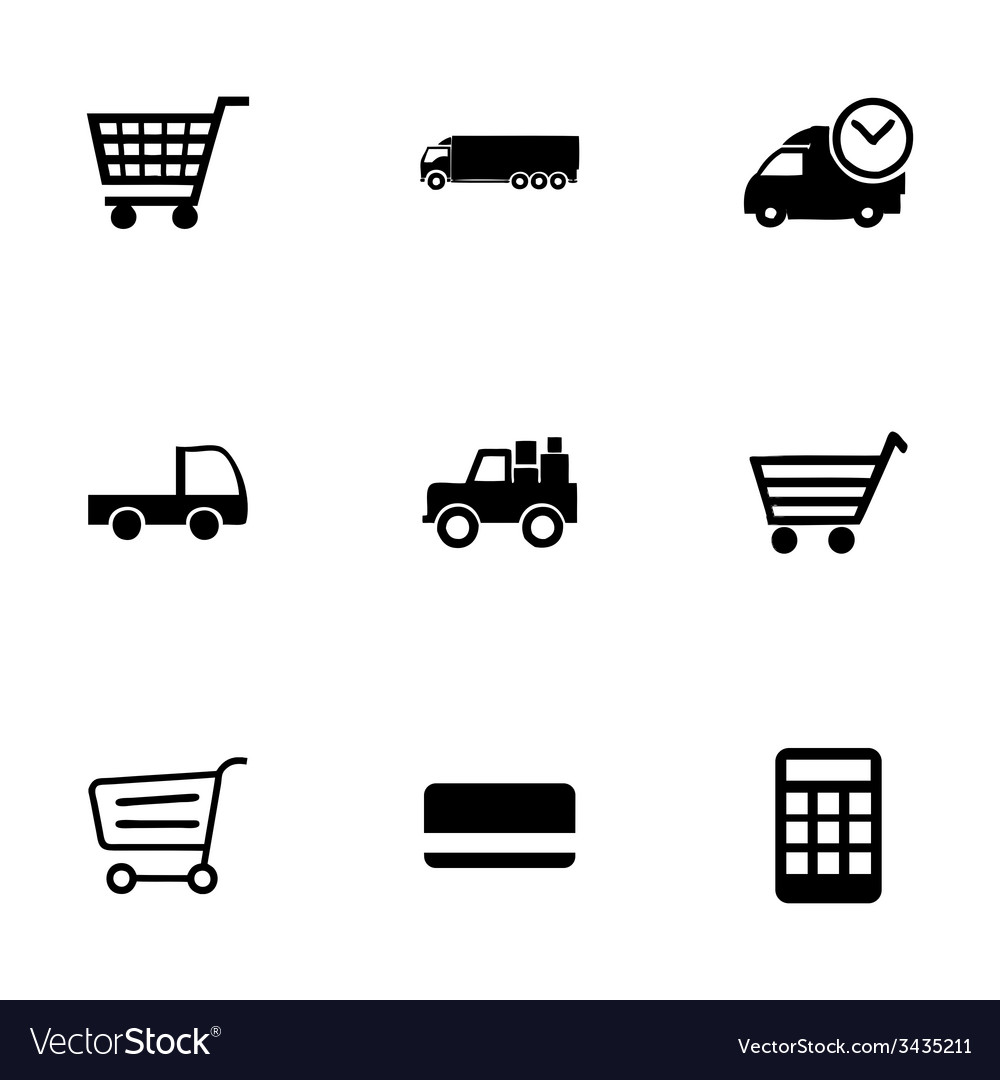 Shopping icon set vector | Price: 1 Credit (USD $1)