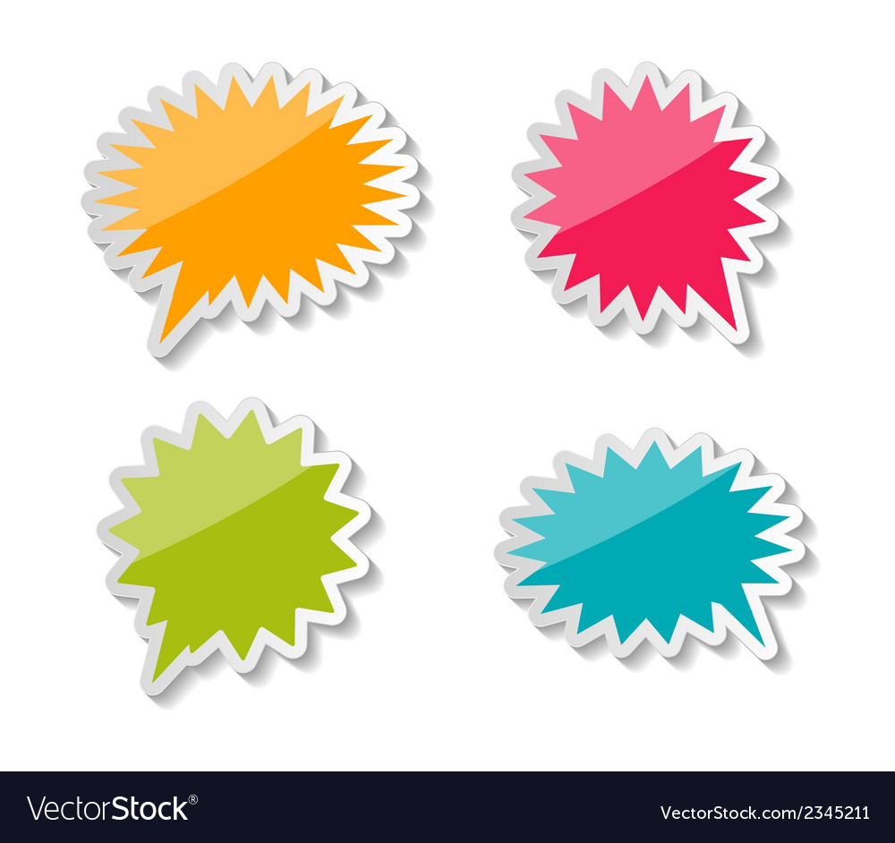 Speech bubbles stickers vector | Price: 1 Credit (USD $1)