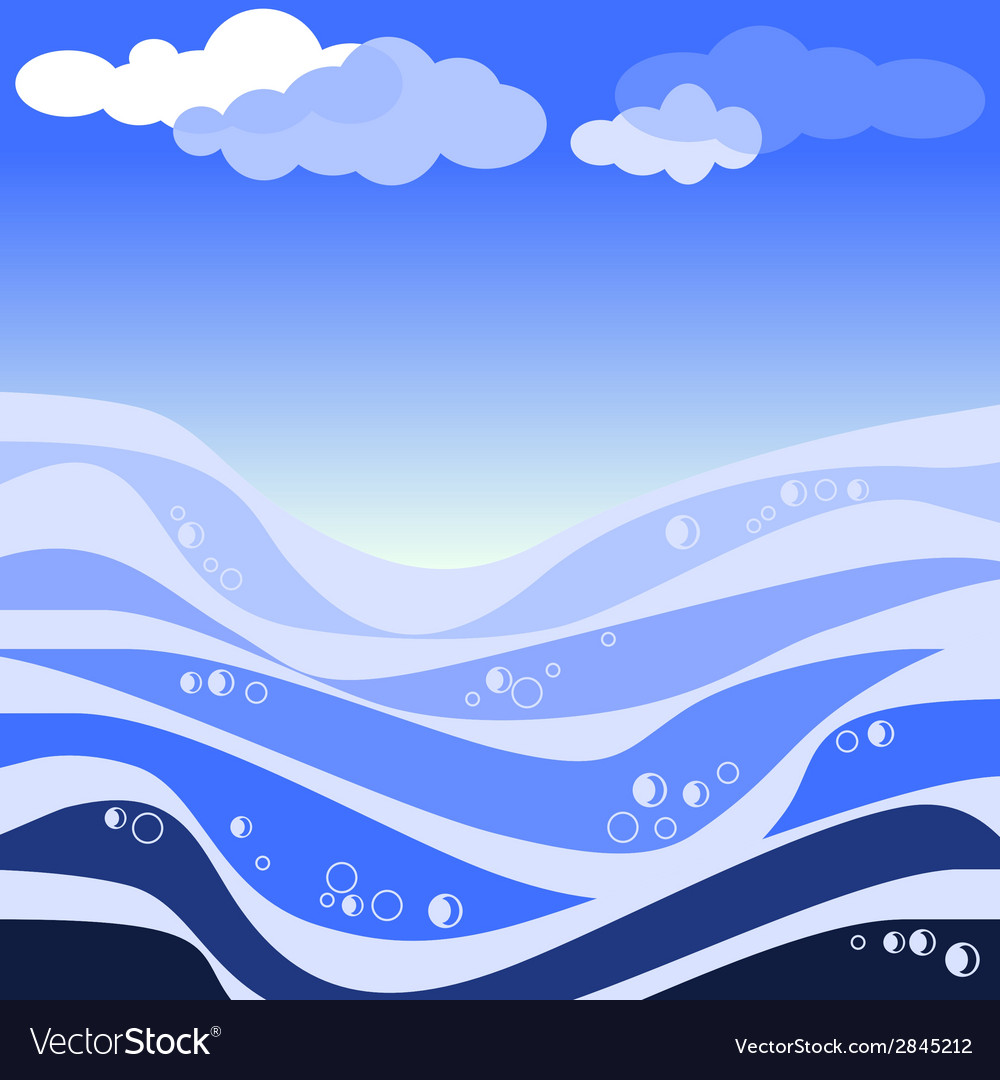 Abstract sea and blue sky vector | Price: 1 Credit (USD $1)