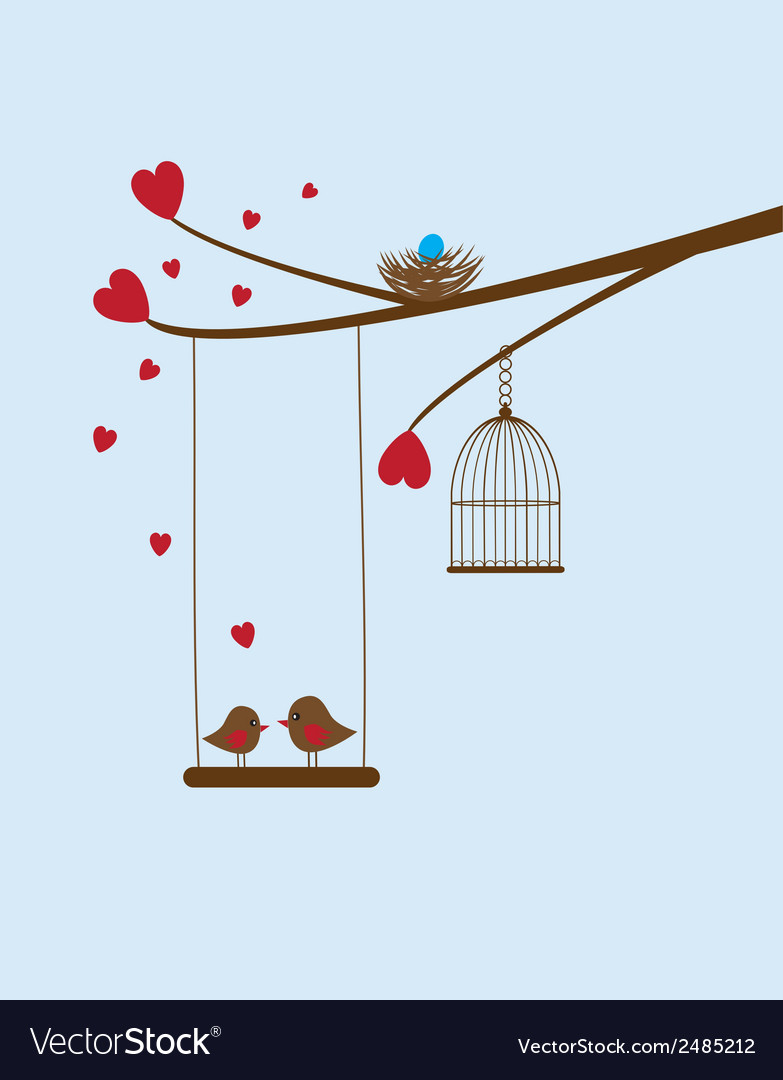 Bird swing vector | Price: 1 Credit (USD $1)