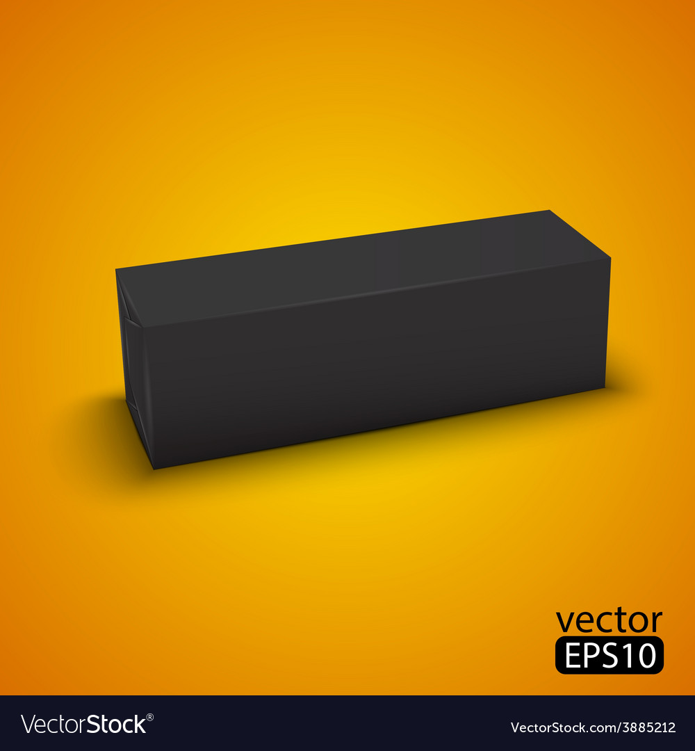 Black wrap box package vector | Price: 1 Credit (USD $1)