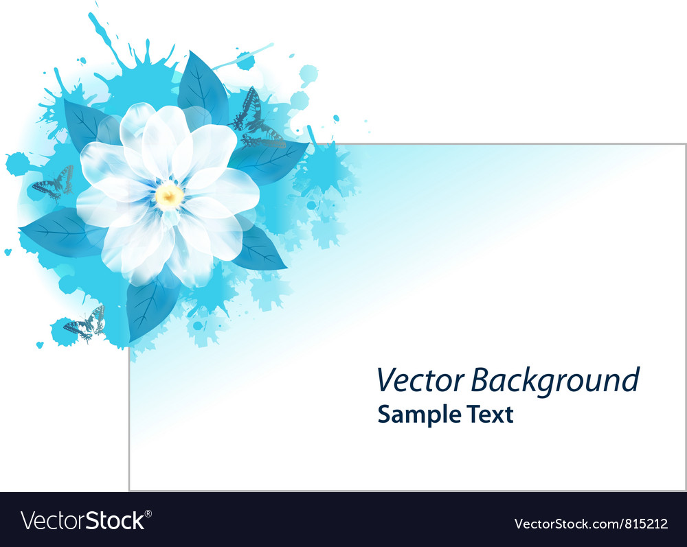 Blue grunge card vector | Price: 1 Credit (USD $1)
