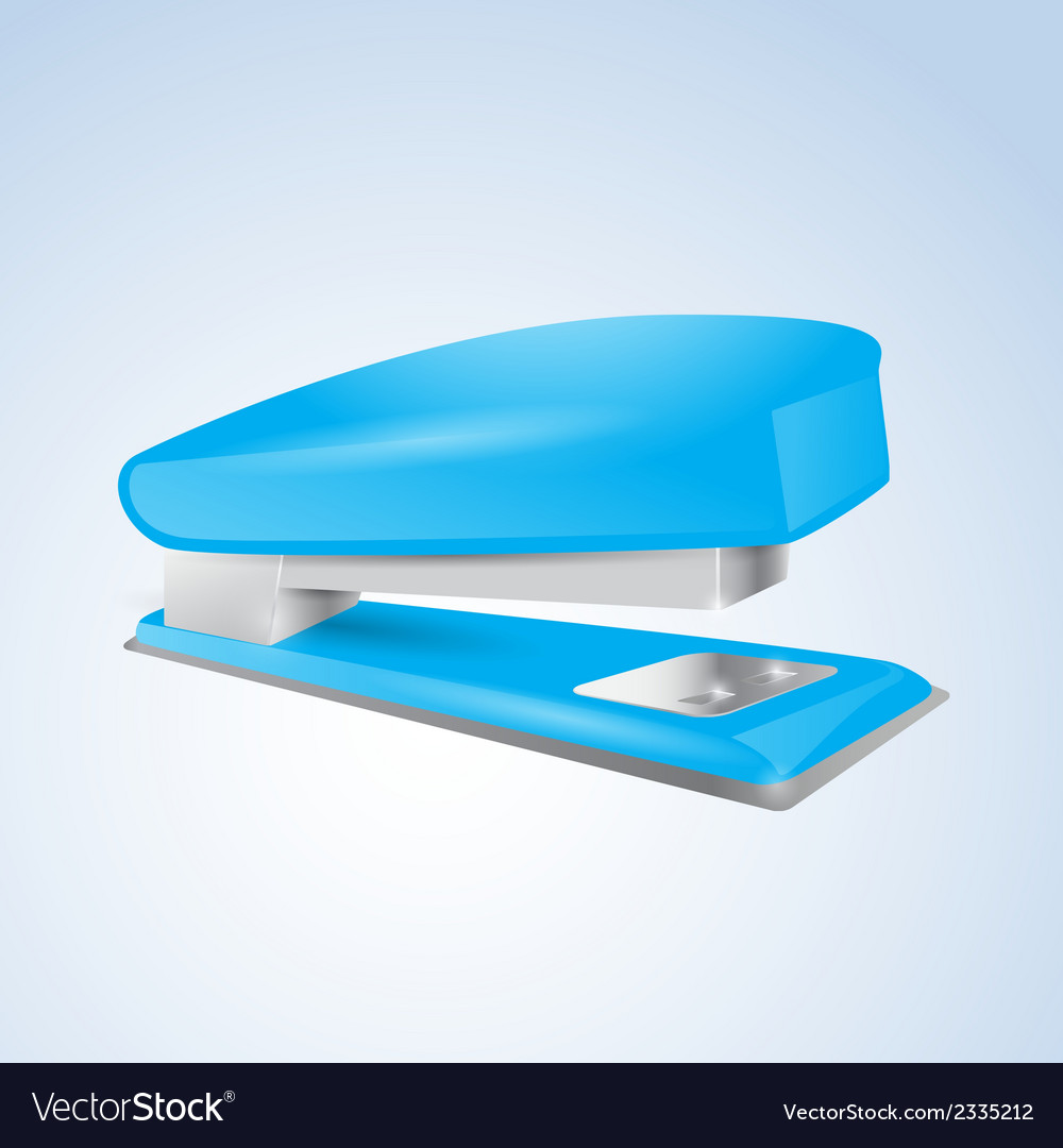 Blue stapler vector | Price: 1 Credit (USD $1)