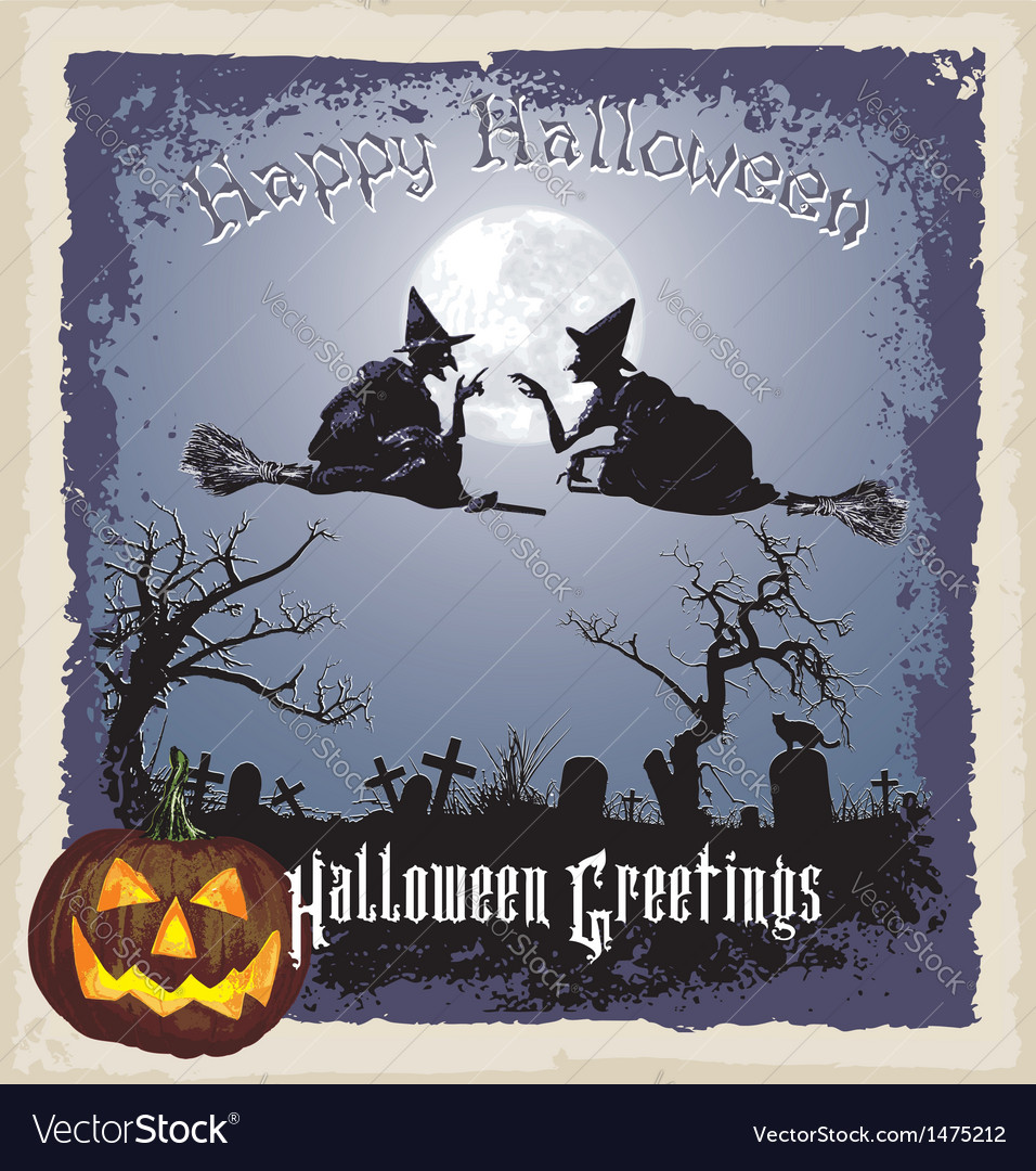 Halloween greeting vector | Price: 1 Credit (USD $1)