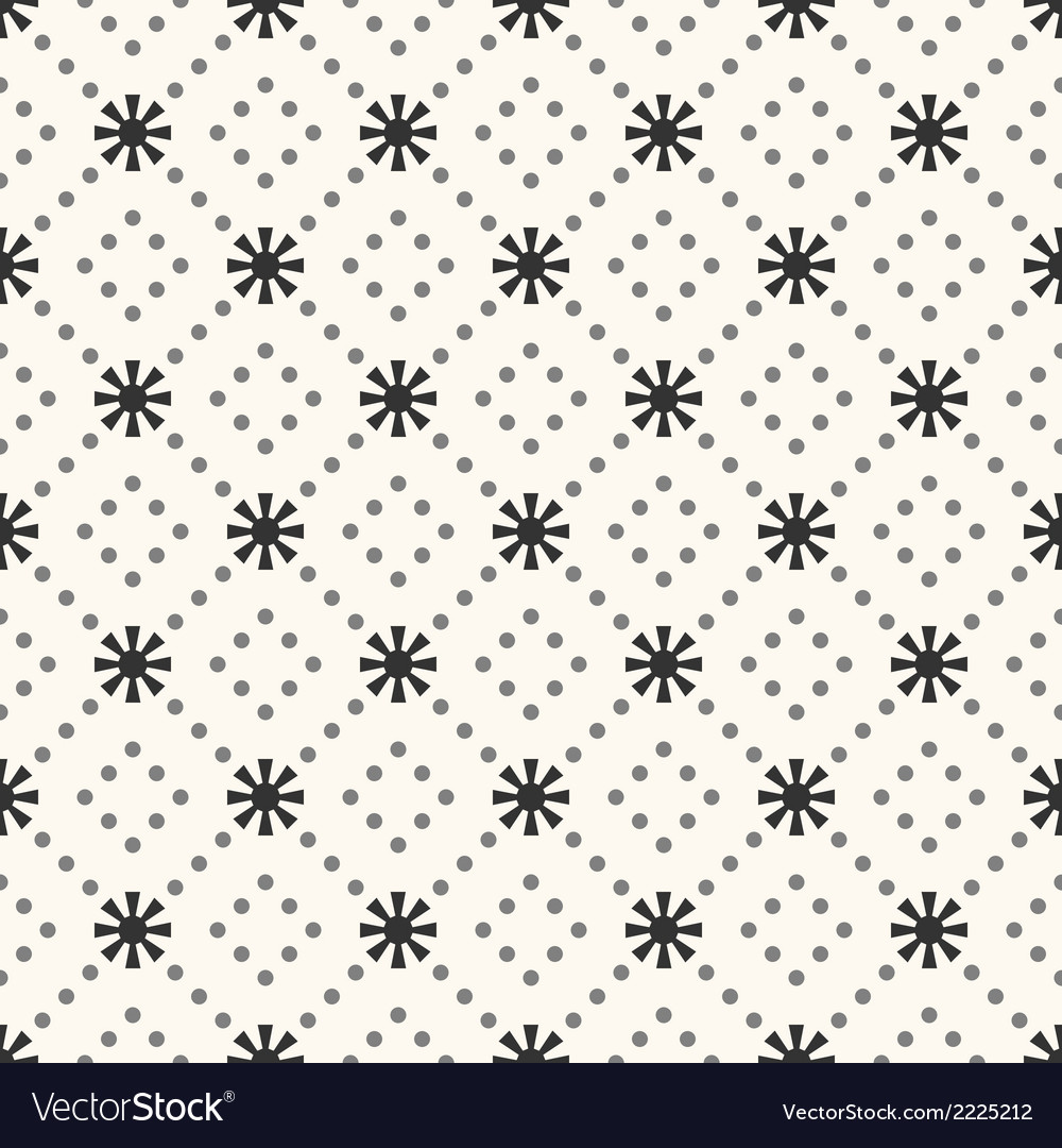 Seamless pattern of sun shape and dot vector | Price: 1 Credit (USD $1)