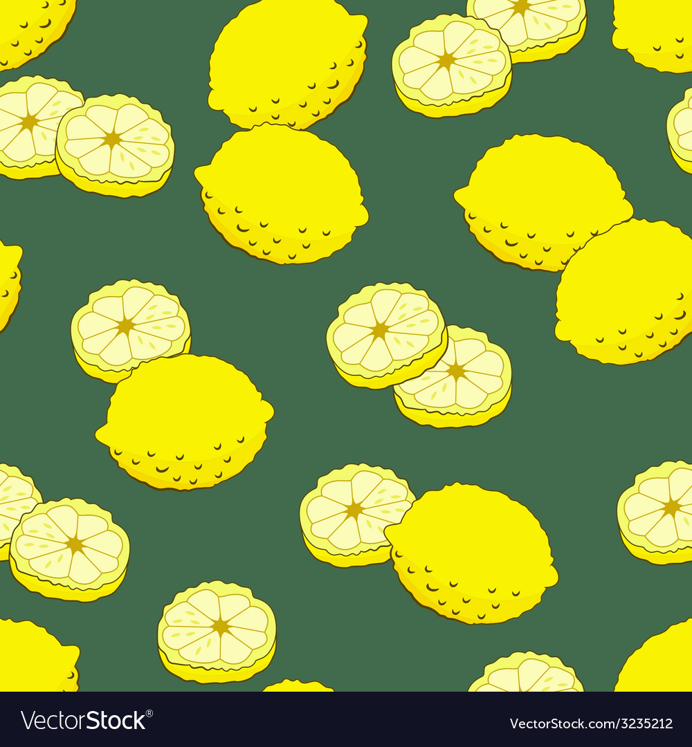 Seamless pattern with lemons vector | Price: 1 Credit (USD $1)