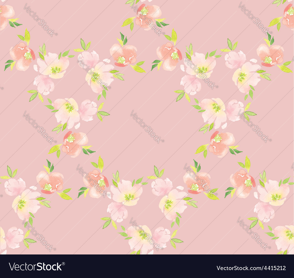 Watercolor flower pattern vector   Price: 1 Credit (USD $1)