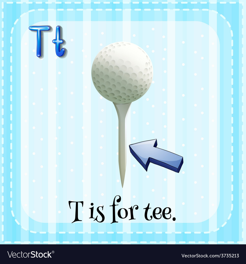 A letter t for tee vector | Price: 1 Credit (USD $1)