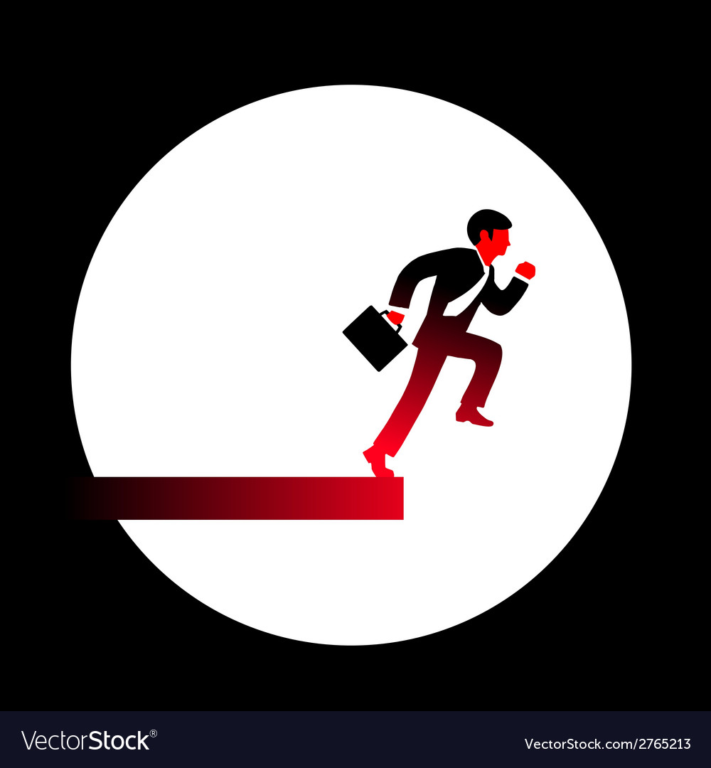 A red businessman in a black suit tie an vector | Price: 1 Credit (USD $1)