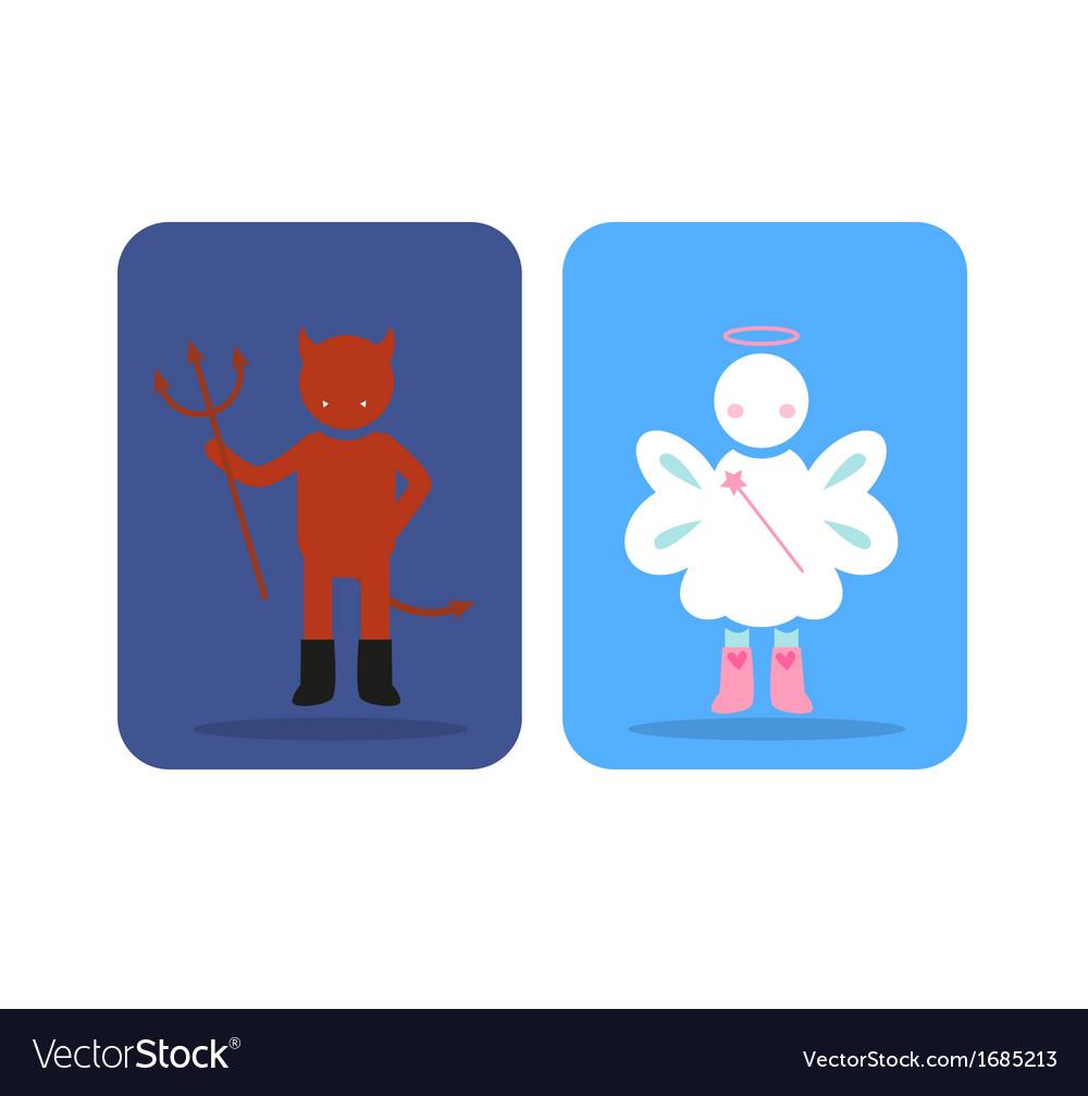 Angel devil vector | Price: 1 Credit (USD $1)