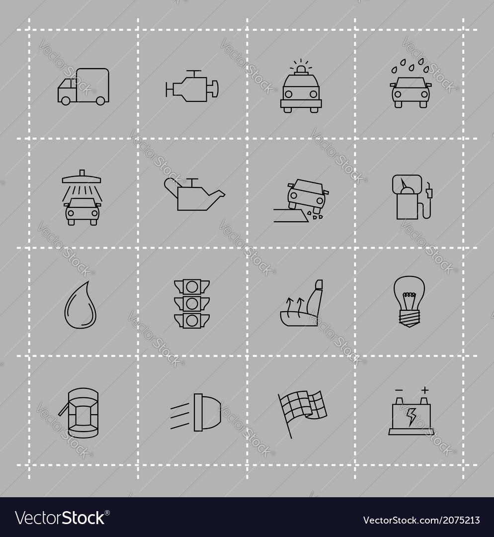 Auto icons set vector | Price: 1 Credit (USD $1)