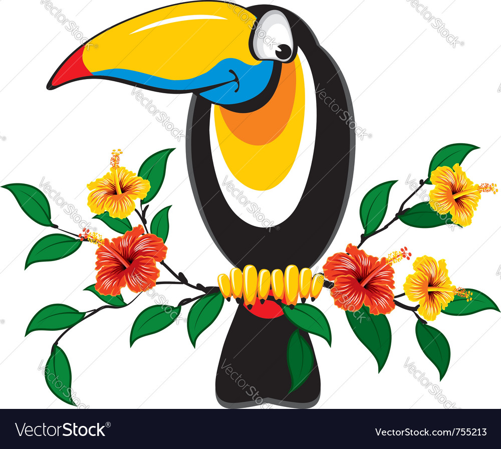 Cheerful toucan vector | Price: 3 Credit (USD $3)