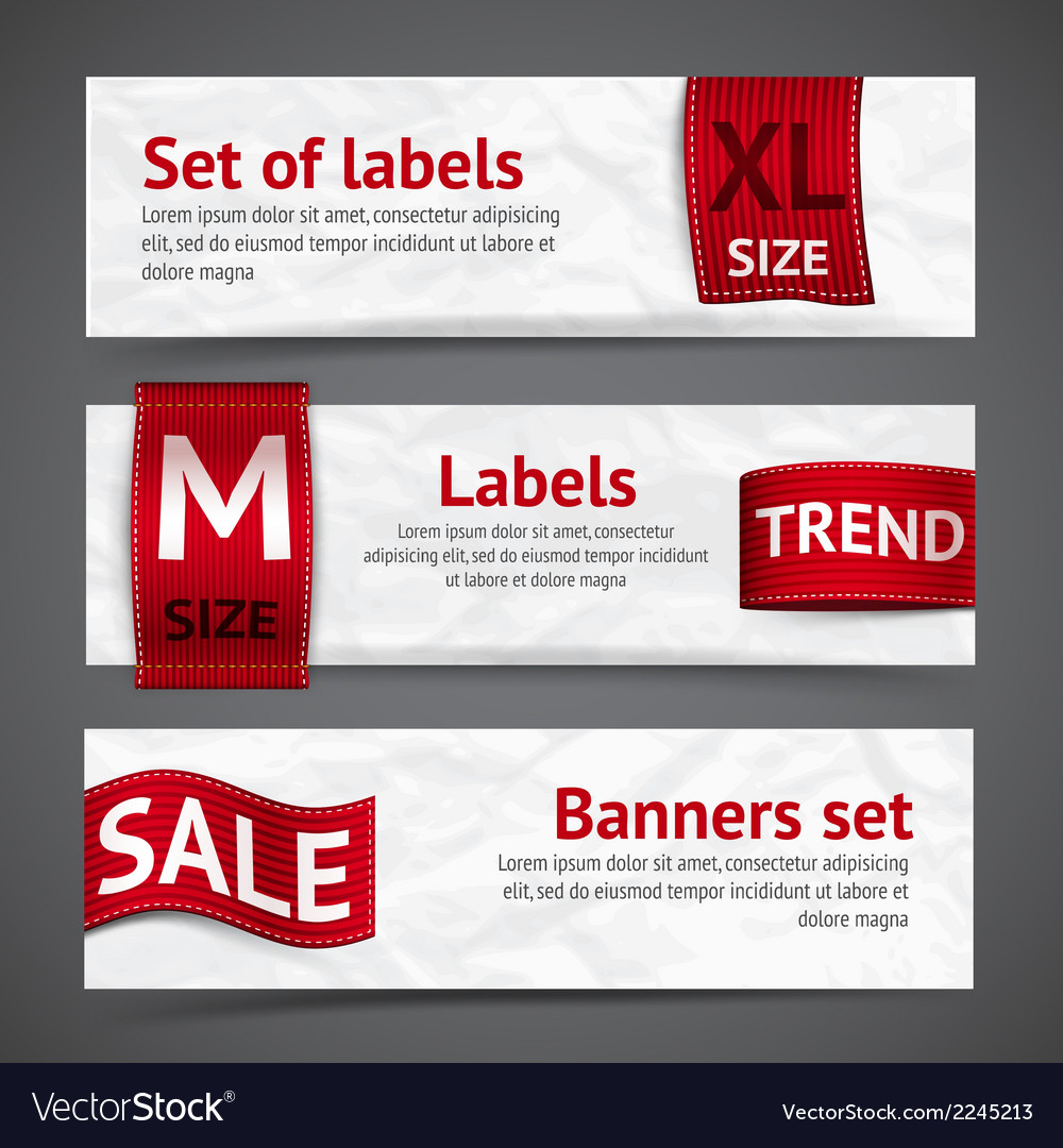 Clothing labels banners vector | Price: 1 Credit (USD $1)