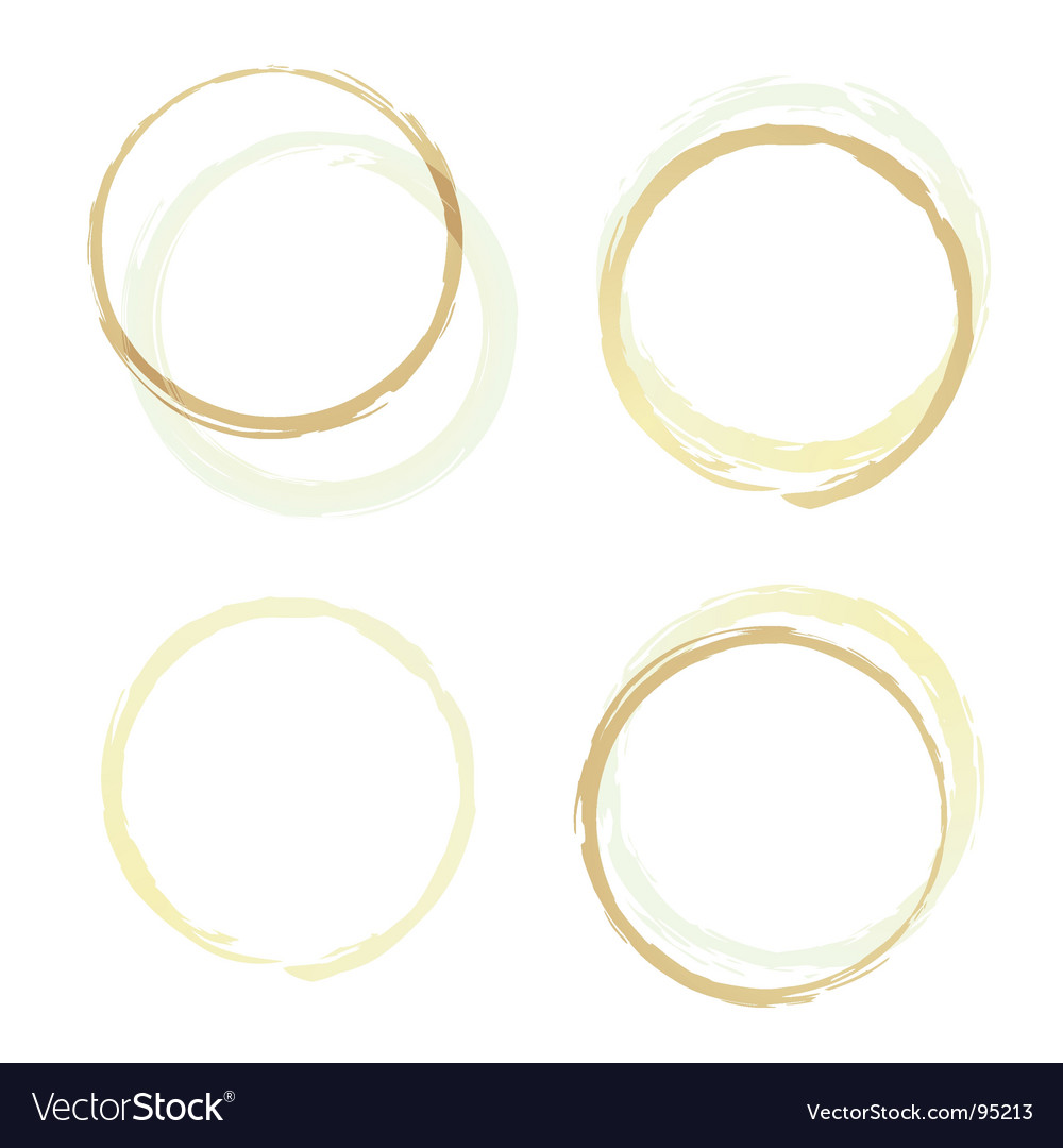 Coffee rings four vector | Price: 1 Credit (USD $1)