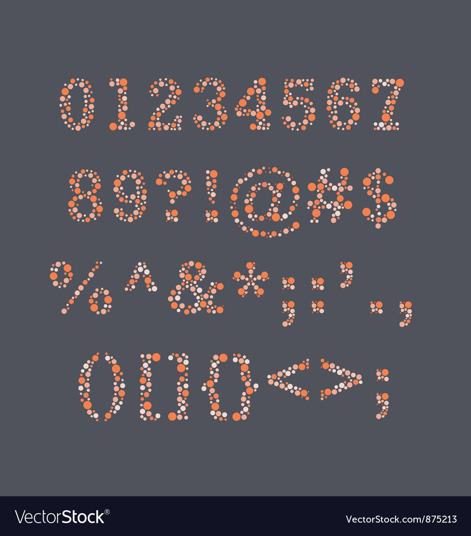 Colorblind numbers vector | Price: 1 Credit (USD $1)