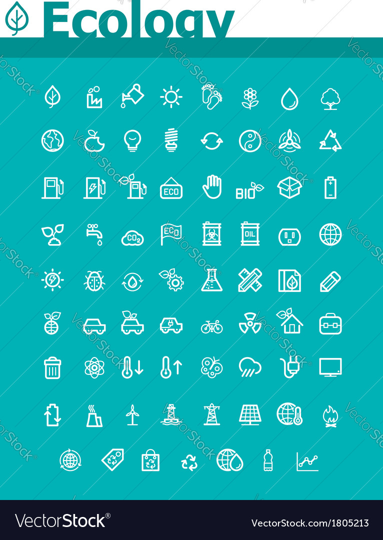 Ecology icon set vector | Price: 1 Credit (USD $1)