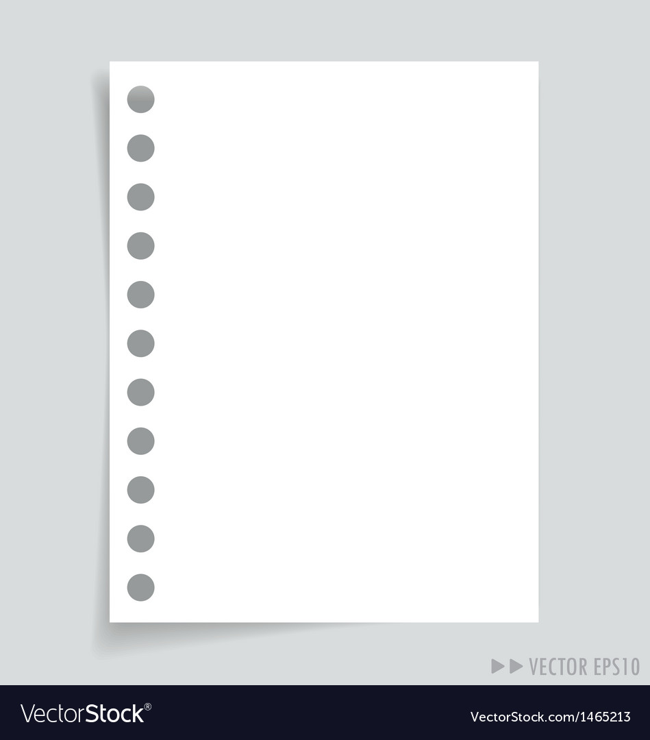 Empty message white papers vector | Price: 1 Credit (USD $1)