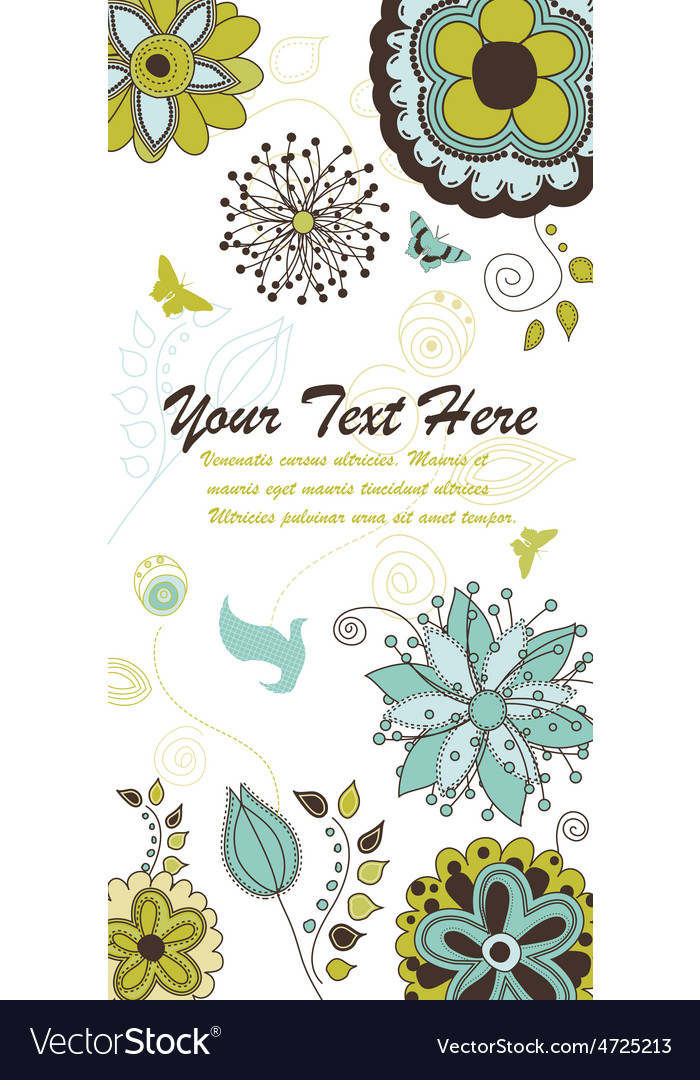Floral and nature background for your text vector | Price: 1 Credit (USD $1)