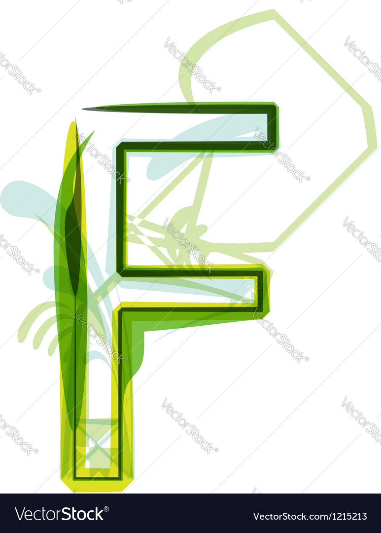 Green letter vector | Price: 1 Credit (USD $1)