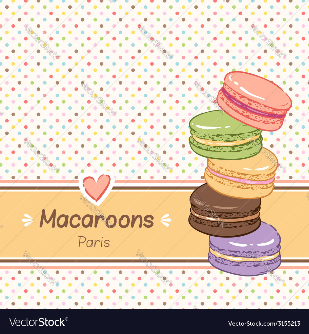 Macarons background vector | Price: 1 Credit (USD $1)