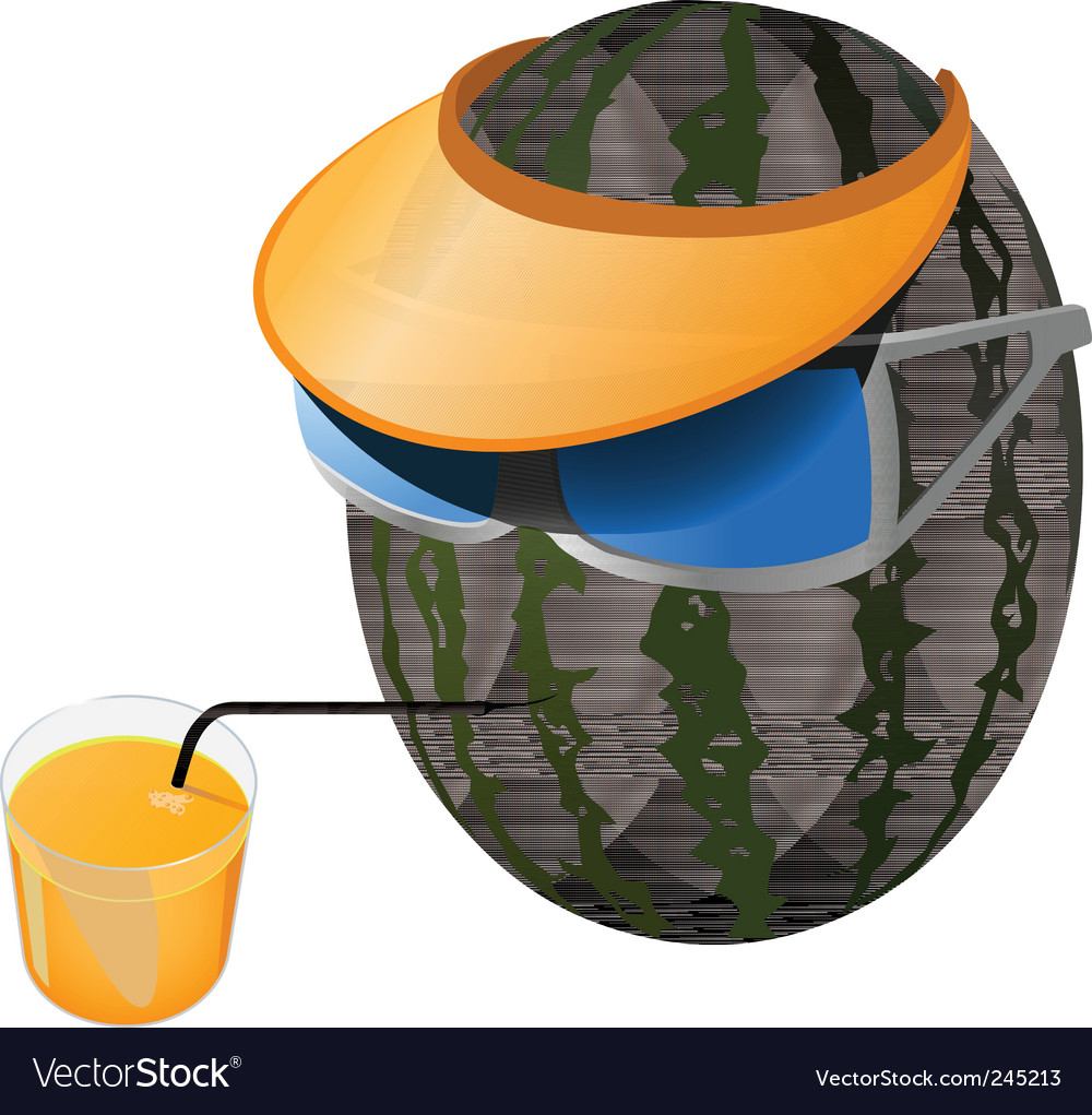 Melon vacation vector | Price: 3 Credit (USD $3)