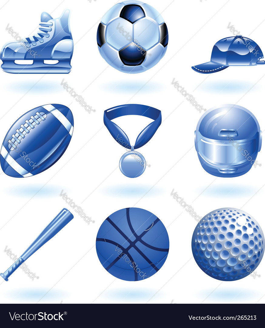 Sports icon set vector | Price: 3 Credit (USD $3)