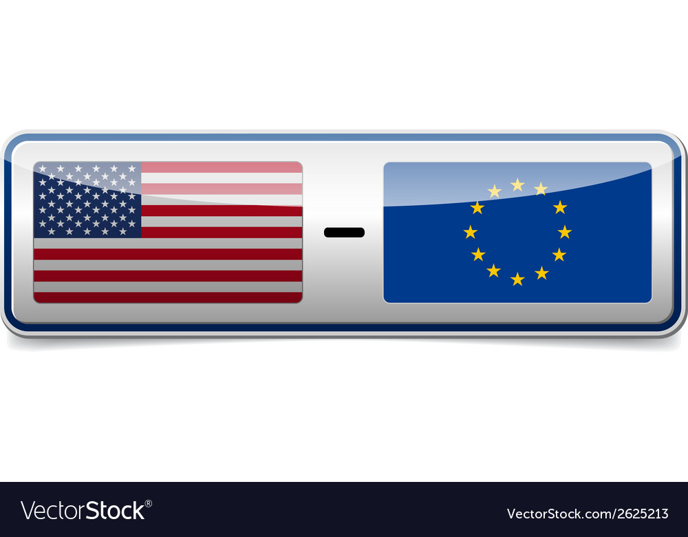 Usa - eu sign vector | Price: 1 Credit (USD $1)