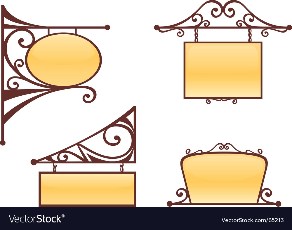 Vintage signs vector | Price: 1 Credit (USD $1)