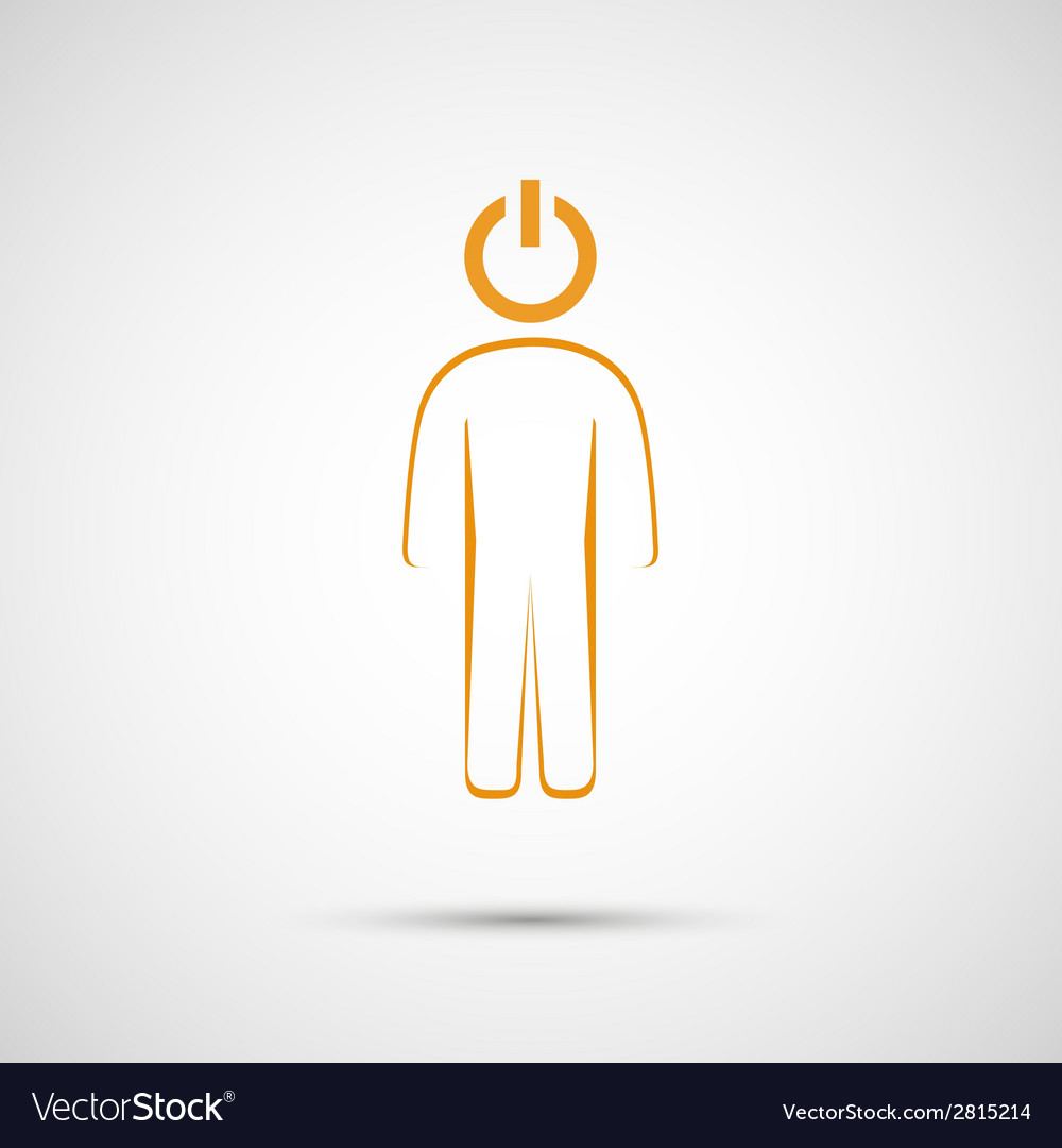 Abstract human contour button to play vector | Price: 1 Credit (USD $1)
