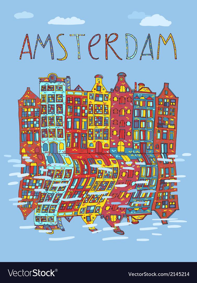 Amsterdam card vector   Price: 1 Credit (USD $1)