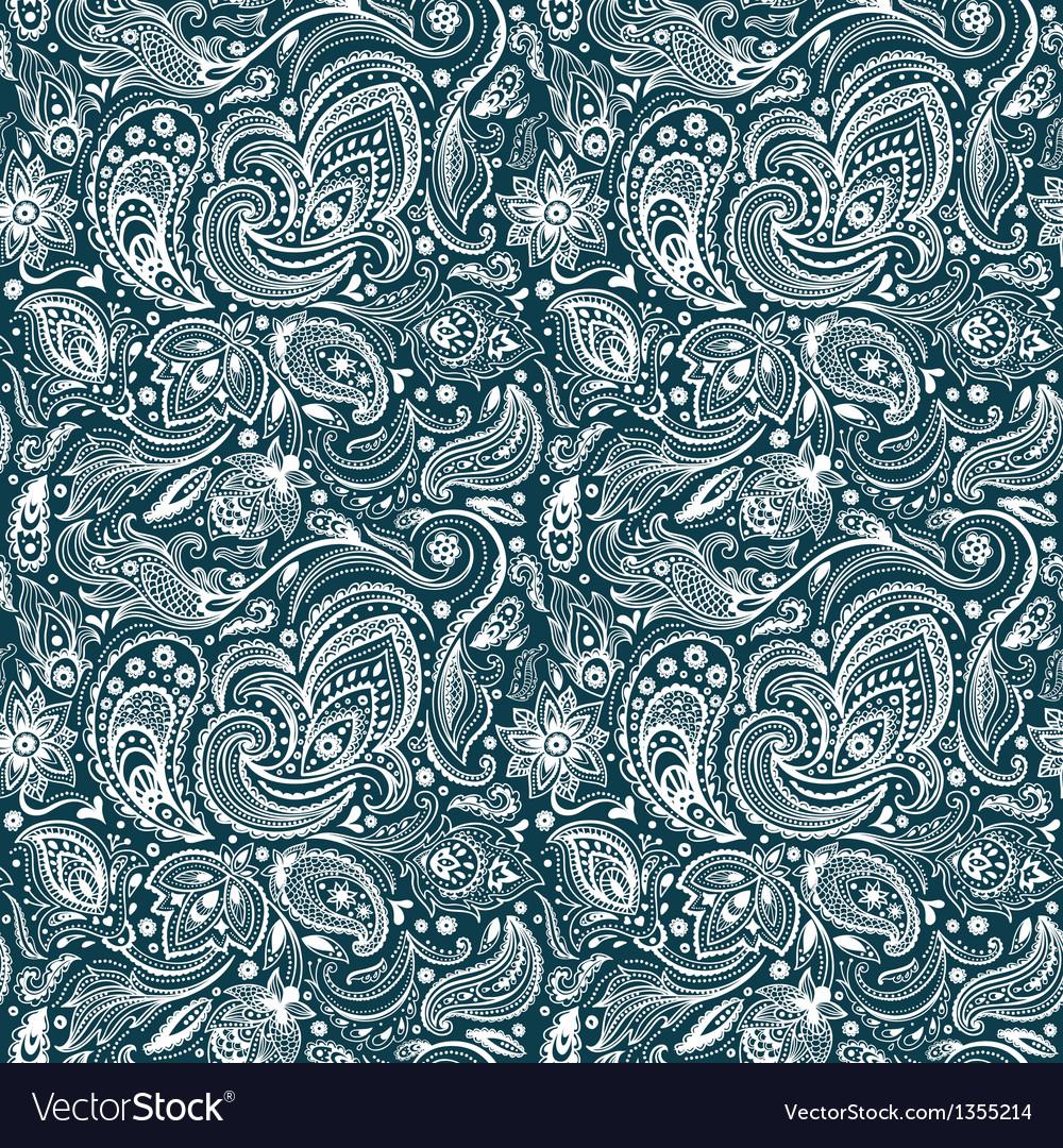 Beautiful paisley seamless vector | Price: 1 Credit (USD $1)