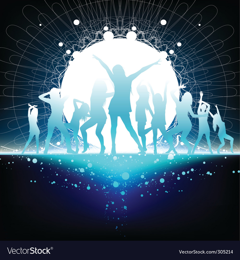 Dancing women vector | Price: 1 Credit (USD $1)