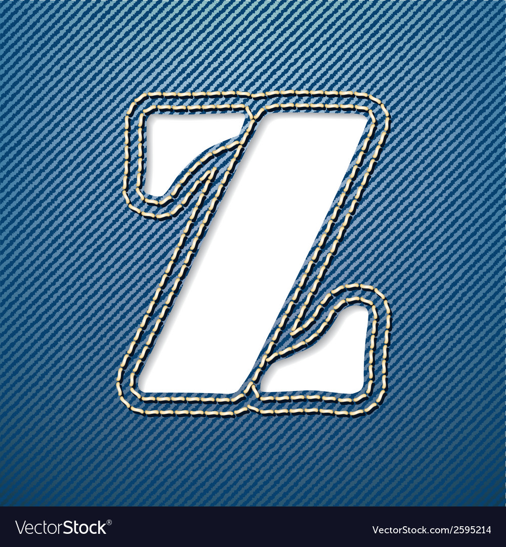 Denim jeans letter z vector | Price: 1 Credit (USD $1)