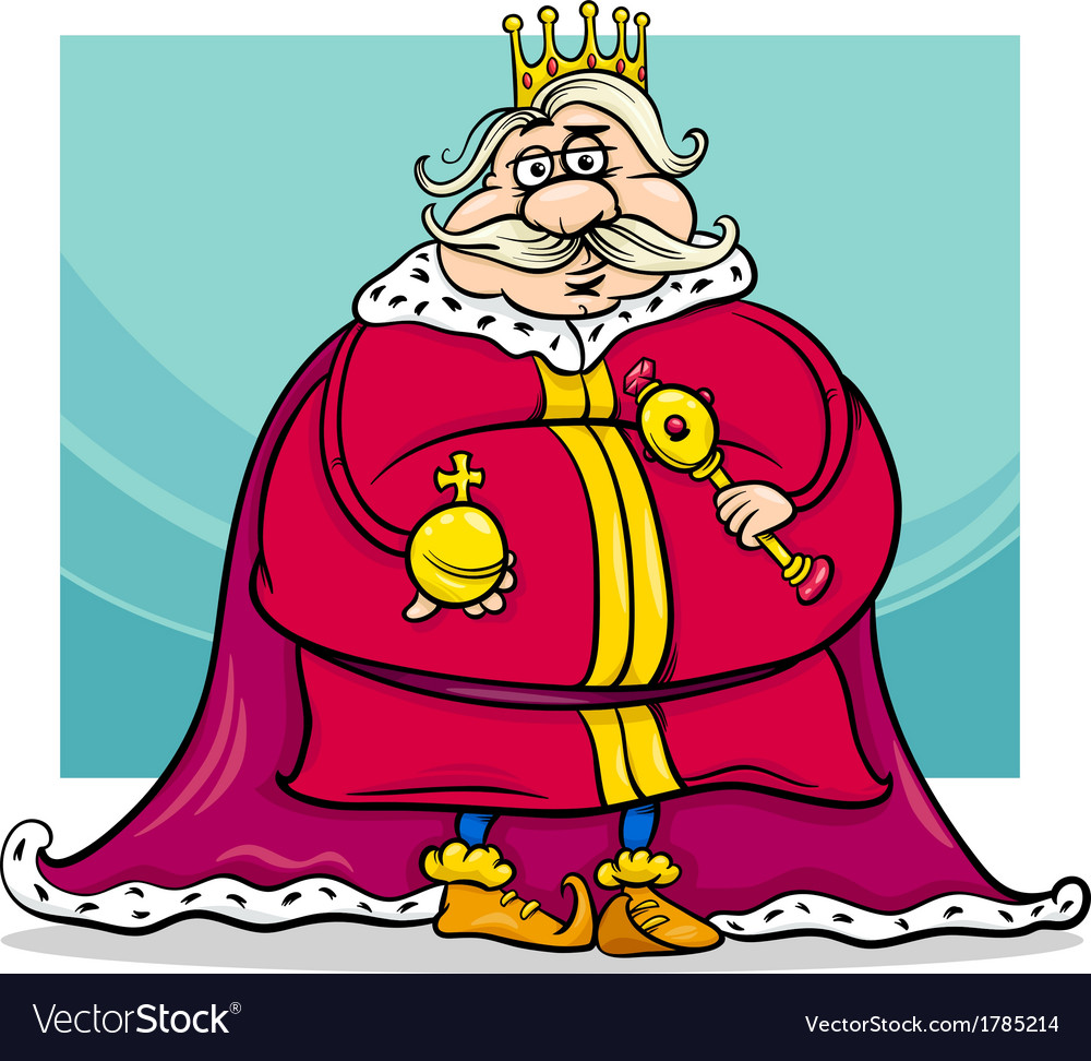 Fat king cartoon fantasy character vector | Price: 1 Credit (USD $1)