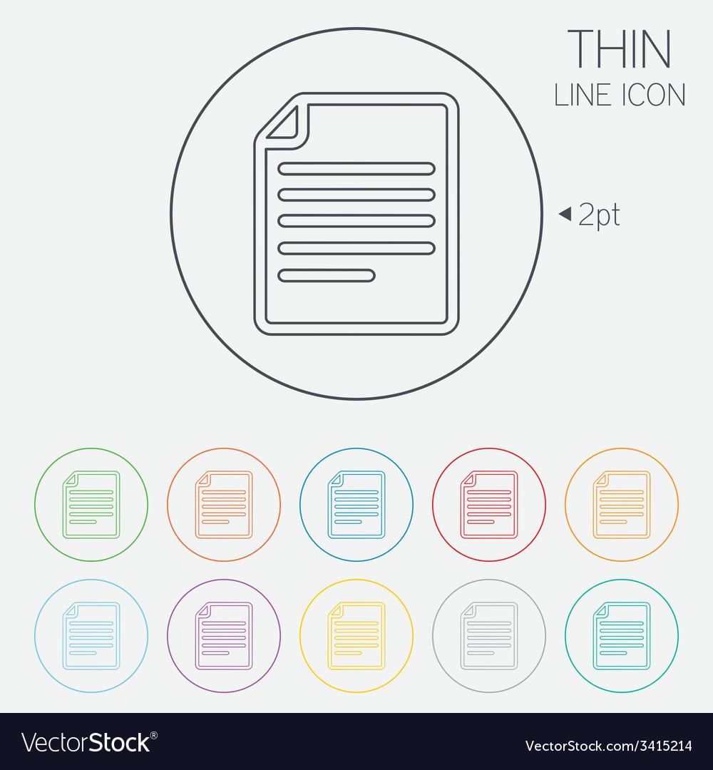 File document icon download doc button vector | Price: 1 Credit (USD $1)