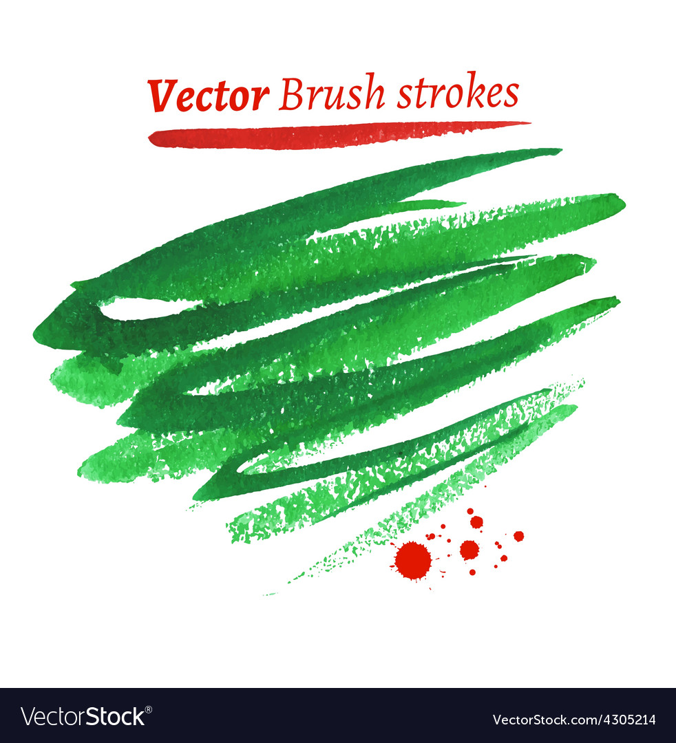 Hand drawn watercolor brush strokes vector | Price: 1 Credit (USD $1)