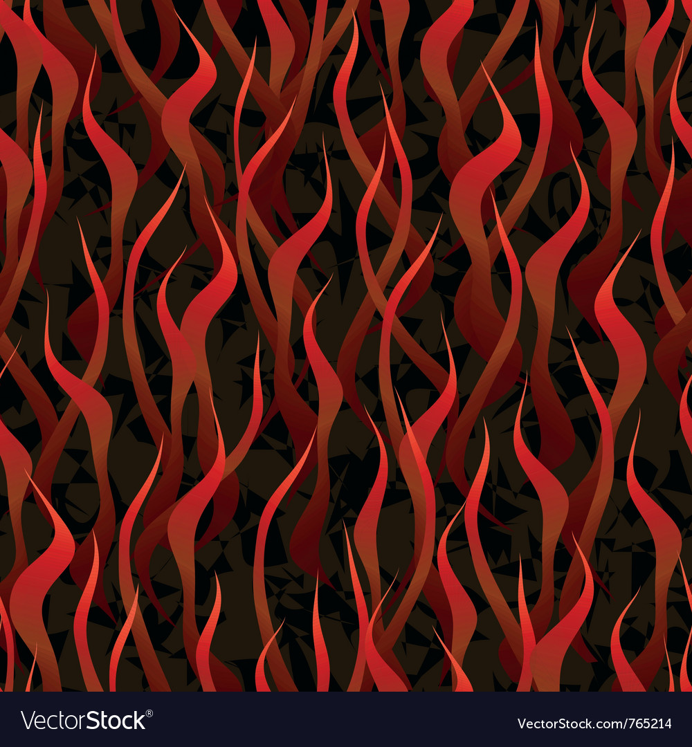 Hell fire seamless background vector | Price: 1 Credit (USD $1)