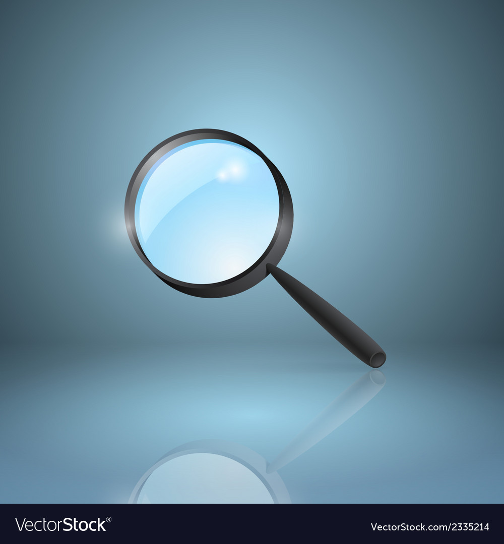 Magnifying lens icon vector | Price: 1 Credit (USD $1)