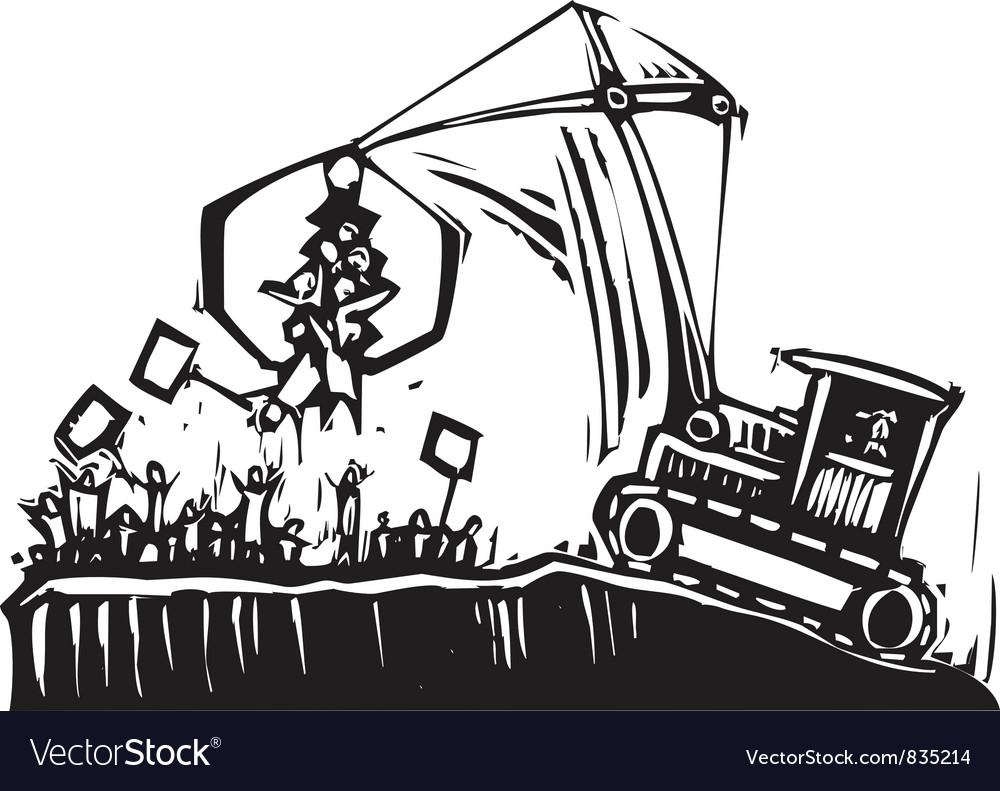 Protest crane vector | Price: 1 Credit (USD $1)