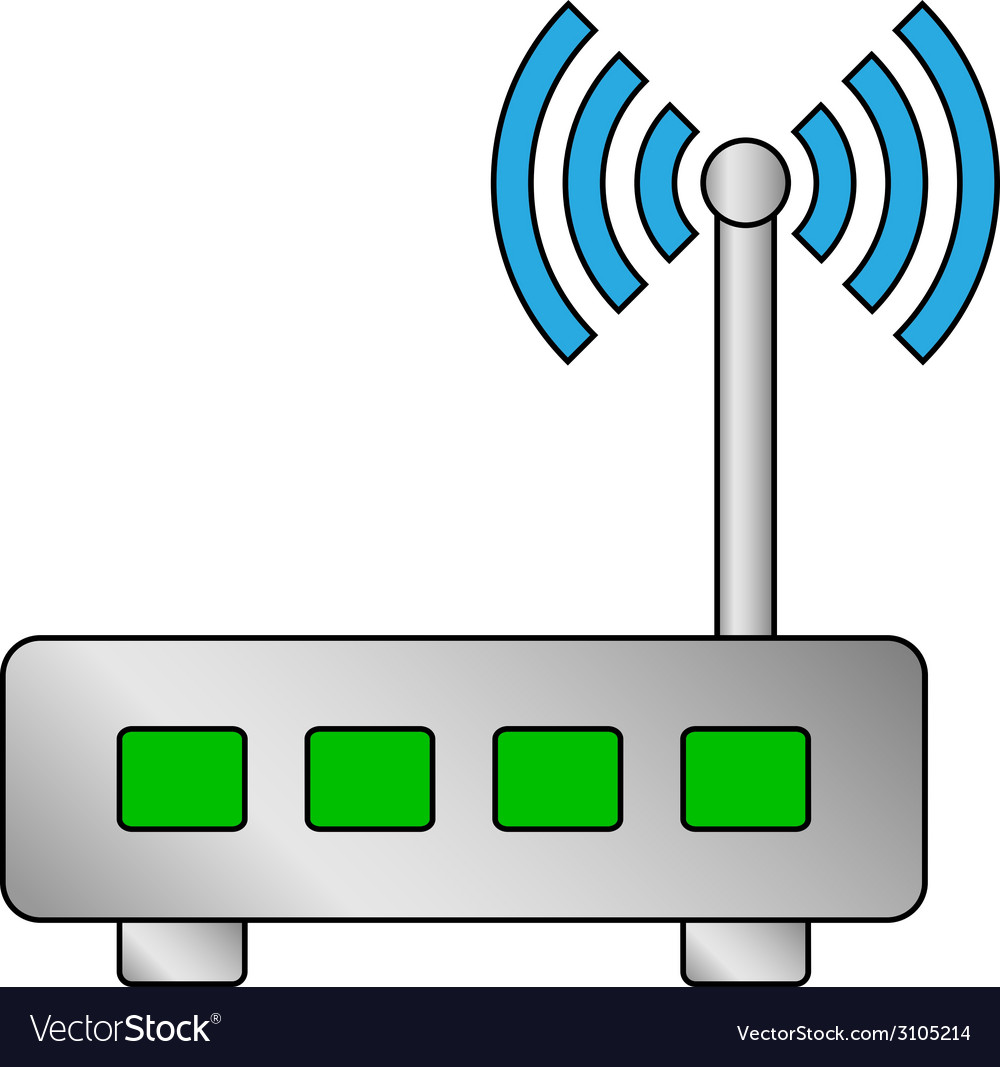 Router vector | Price: 1 Credit (USD $1)