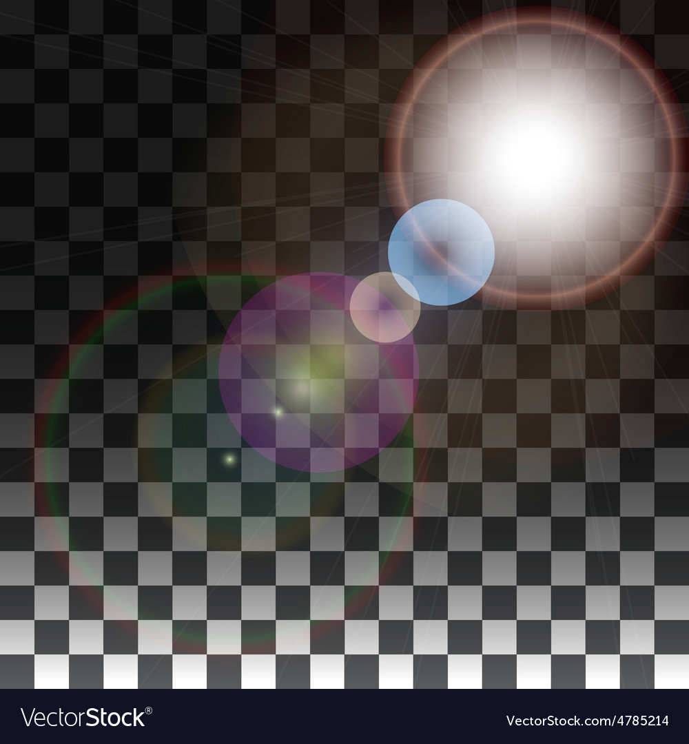 Special effects on a transparent background vector