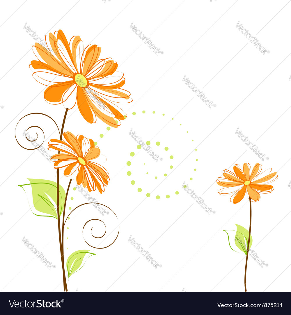 Springtime colorful daisy flower vector | Price:  Credit (USD $)