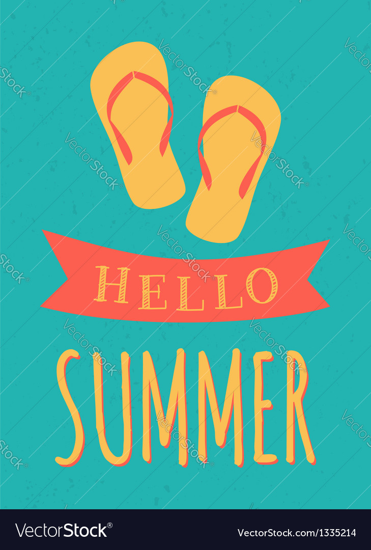 Summer poster vector | Price: 1 Credit (USD $1)