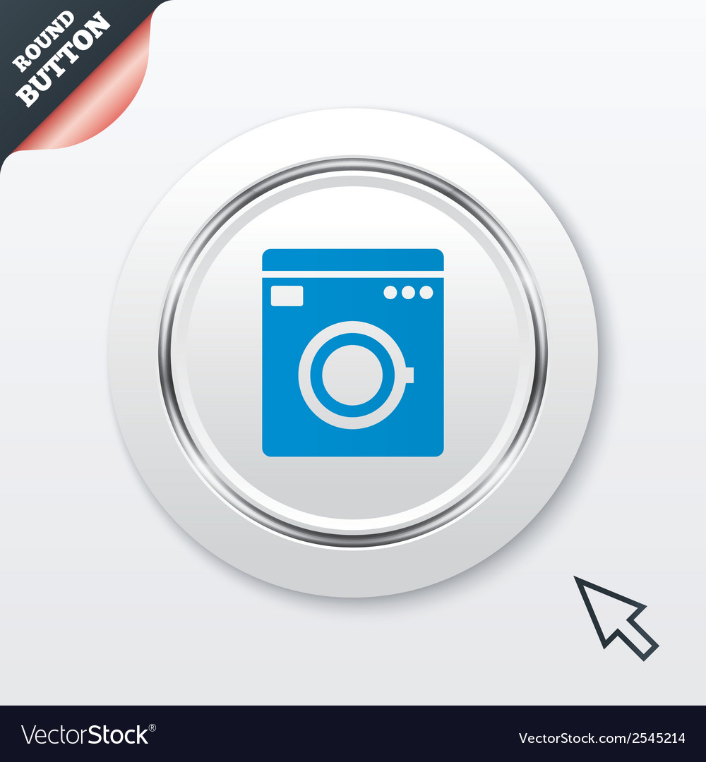 Washing machine icon home appliances symbol vector | Price: 1 Credit (USD $1)
