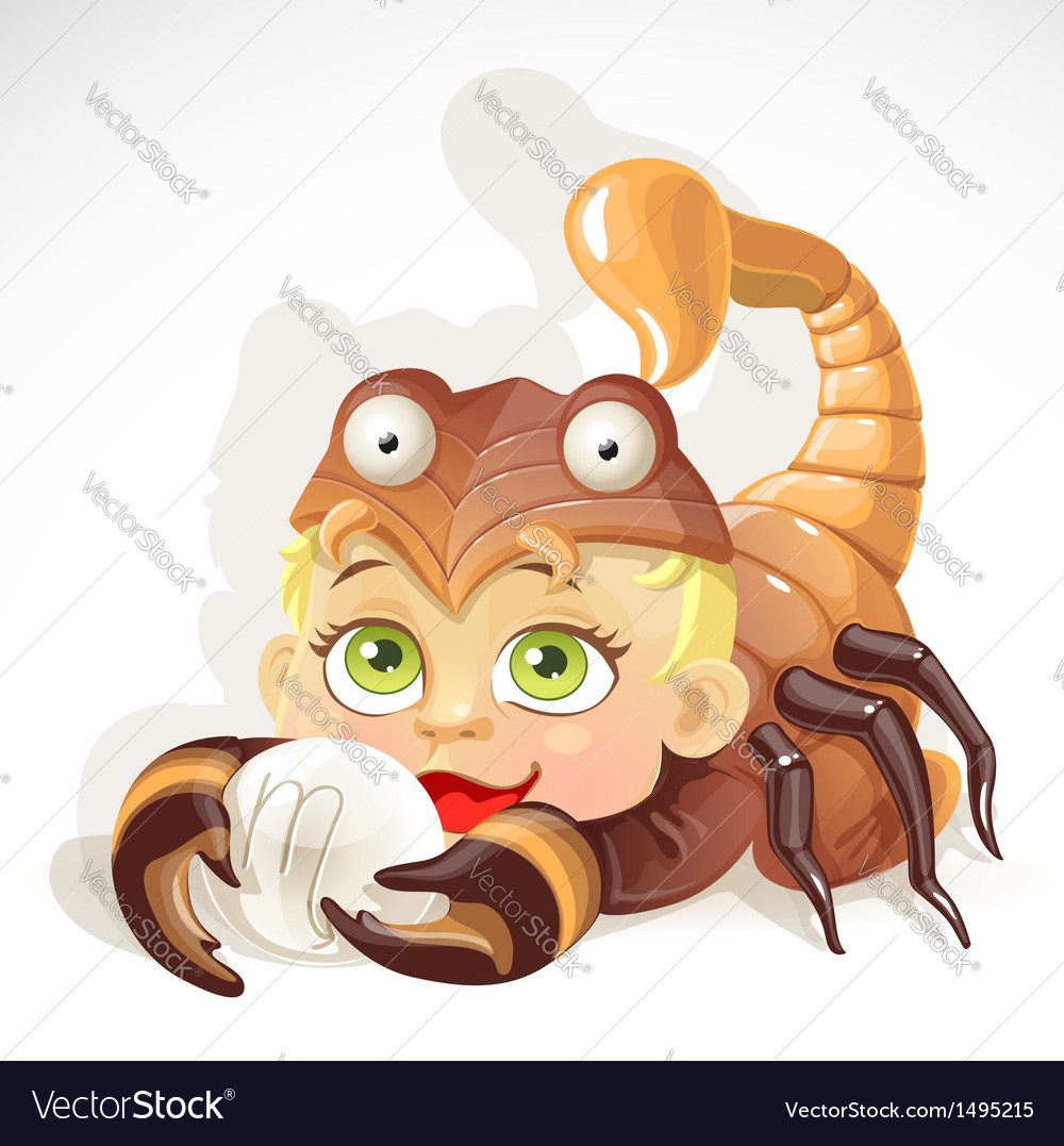 Baby zodiac - sign scorpio vector | Price: 3 Credit (USD $3)