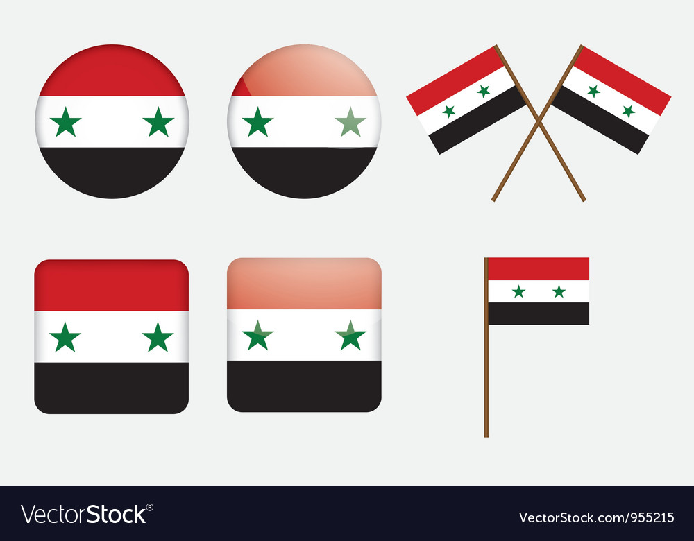 Badges with flag of syria vector | Price: 1 Credit (USD $1)
