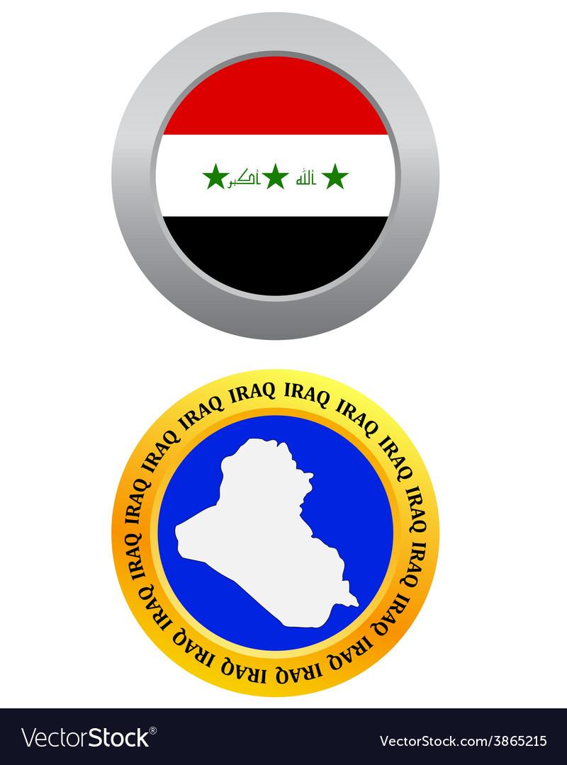 Button as a symbol iraq vector   Price: 1 Credit (USD $1)